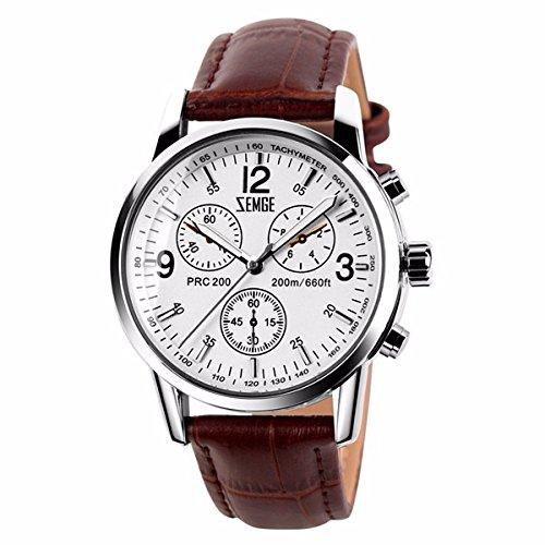 ZEMGE 40mm Hombres Reloj De Cuarzo AnalóGico Cronógrafo Fecha resistente al agua reloj de pulsera unisex Business Casual simple diseño clásico acero inoxidable Boss de ZC0102