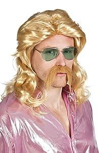 Boland -Peluca rubia larga con bigote rubio Barry, 85724