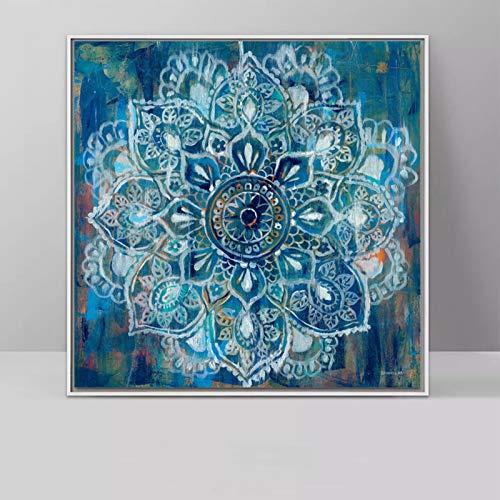 jzxjzx Retro abstrakte Blume Wohnzimmer dekorative malerei Kunst mikro-spritzlackierung spritzlackierung Kern 1 40x40cm -