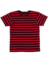 Amazon.es: camiseta rayas rojas y negras: Ropa
