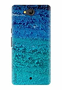 LYF WATER 4 BACK COVER FOR LYF WATER 4 / Graffiti & Illustrations / Life Colors Blue Design - (GD-403) By Noise
