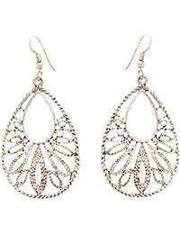 SKN Multicolour Party Fashion Dangle & Drop Antique Oxidised Earrings For Women & Girls (SKN-4038)