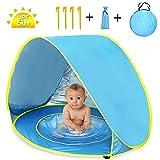 YARD Carpa para niños Tienda de campaña para niños Pop-up con Piscina de bebé Plegable automático con protección Solar de protección UV Vacaciones en la Playa al Aire Libre