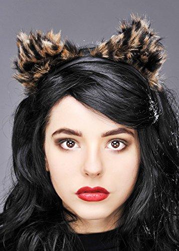 (Struts Fancy Dress Furry Leopard Ohren auf Stirnband)