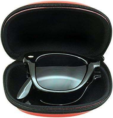 Gafas de sol para hombre para mujer grandes plegable Wayfarer estilo negro uvfs022UV400Inc Caso