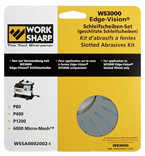 WORKSHARP Edge Vision Schleifblätter Set, geschlitzt (Work Sharp 3000)
