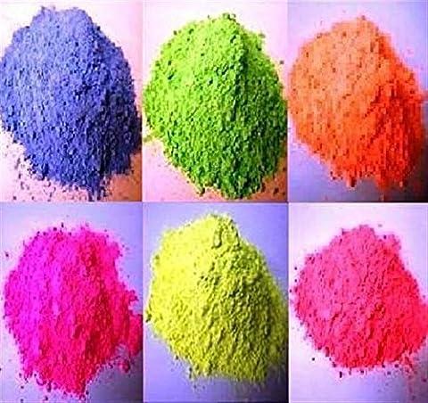 DALTON MANOR 6 X 100GM Powder Paint Refill / IN FLUORESCENT COLOURS