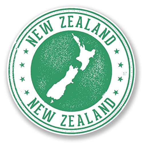 Preisvergleich Produktbild 2 x Neuseeland Vinyl Aufkleber Aufkleber Laptop Reise Gepäck Auto Ipad Schild Fun 6712 - 25cm / 250mm Wide