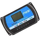 MagiDeal Controlador de Carga Solar 24V 12V PWM Grande de LCD Regulador 5V USB Cargador 20A - Multicolor 30A