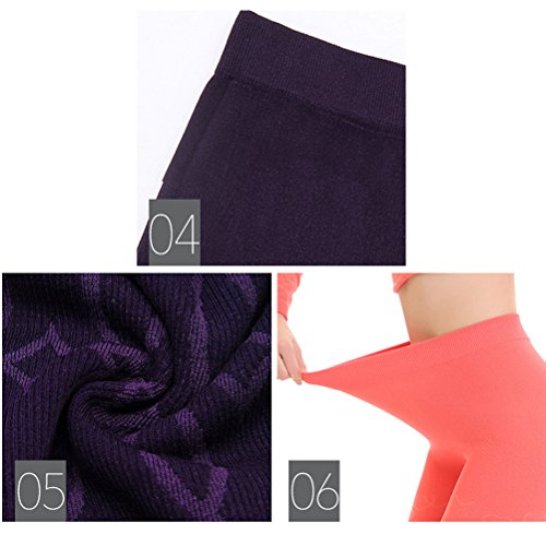 Zhhlinyuan Ladies Frau Winter Soft Cotton Round Neck Skinny Thermal Underwear Set Tops&Pants Purple