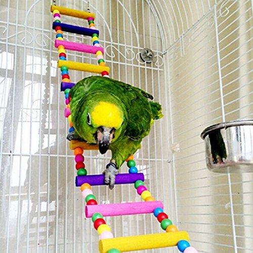 58cm Haustier-Vogel Holzschaukel Flexible Kleintiere Climb Leiter Vogel Papageienspielzeug