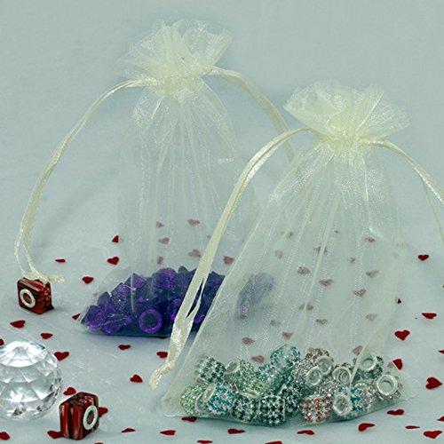 bitfly 100piezas 4x 6pulgadas bolsas de cordón de Organza joyas boda bolsas...