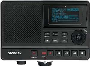 Sangean DAR-101 Enregistreur numérique stéréo mp3 Port SD/USB Double Micro Noir/Argent
