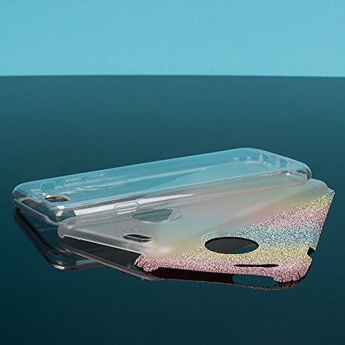 iPhone 6 6S Coque Silicone de NICA, Ultra-Fine Glitter Housse Protection Slim Case Paillettes Cover Souple, Etui TPU Gel Strass Bumper Mince pour Telephone Portable Apple iPhone 6S 6 - Arc En Ciel Arc En Ciel