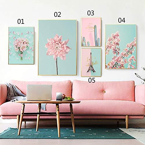 e Blume Nordic Leinwand ungerahmt Malerei Poster Kaktus Wand Bild Dekor 5# 30 * 40 cm ()