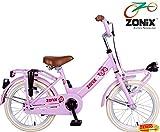 Zonix Mädchen Fahrrad Rosa 16 Zoll mit Frontträger