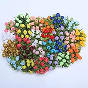 Delush Design Artificial Flowers (Multicolour, 36 Piece)
