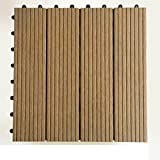 Diy wood parkette/outdoor,terrasse,garten,holzböden/balkon plastic wood parkette/diy wood parkette-B 30x30cm(12x12inch)