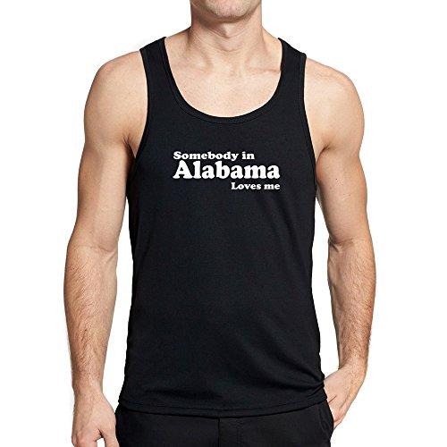 Alabama Tank (Teeburon Somebody in Alabama loves me Tank Top)