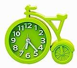 Nette Fahrrad Form Wecker am Bett Schreibtisch-Wecker für Kinder Studenten Grün