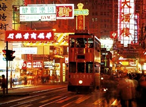 1art1 45788 Chad Ehlers - Hennessy Road, Causeway Bay Hong Kong Poster Kunstdruck 70 x 50 cm -