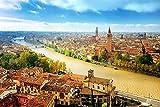 XYDXDY 500/520/1000pcs Verona Italia Ospita fiumi Sky Canal-Adult Puzzle in Legno Paesaggio Puzzle per Bambini Giocattoli educativi Regali-1000 PCS