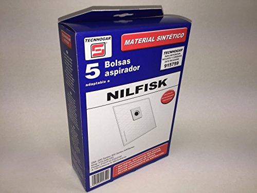 TECNHOGAR 177Y90 - Sac aspirateur Nilfisk 5 unités
