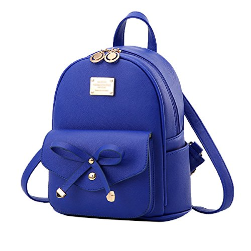 Mini Casual Daypack Schultertasche Damenmode Doppel Umhängetasche Casual Daypack,Blue-M
