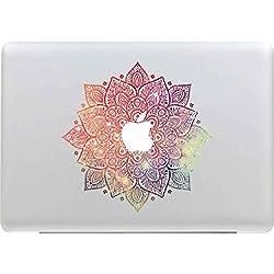 Sticker Adhesivos Macbook, Stillshine Desprendibles Creativo Colorido Art Calcomanía Pegatina para Apple MacBook Pro / Air 13 Pulgadas Mandala Roja