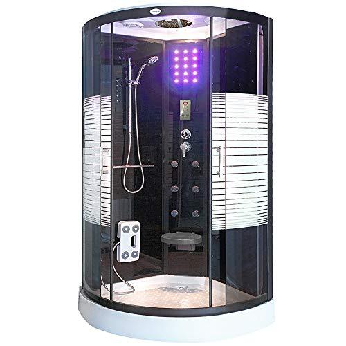 Home Deluxe - Duschkabine - Black Pearl - Maße: 100 x 100 x 220 cm - Verschiedene Größen - inkl. komplettem Zubehör