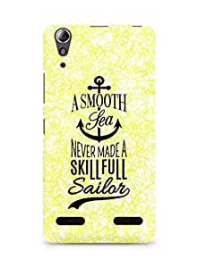 Amez A Smooth Sea Never made a Skillful Sailor Back Cover For Lenovo A6000