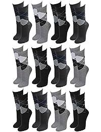 Lavazio® 12 | 24 | 36 | 48 Paar Topmodische Socken für Damen &Teenager verschiedene Farb-Kombis