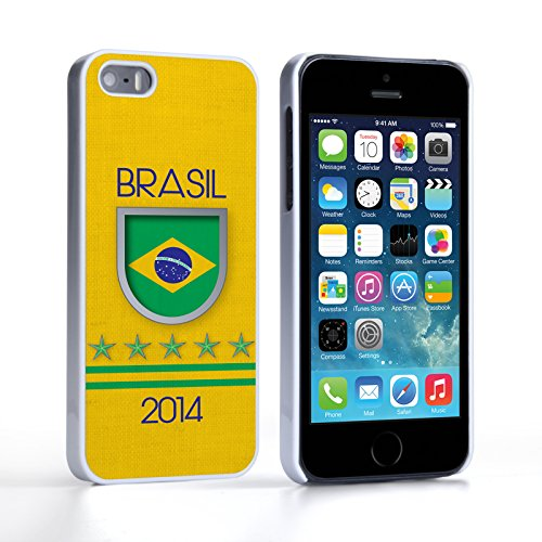 Caseflex Coque iPhone 5 / 5S Brasil Coupe du Monde Dur Housse