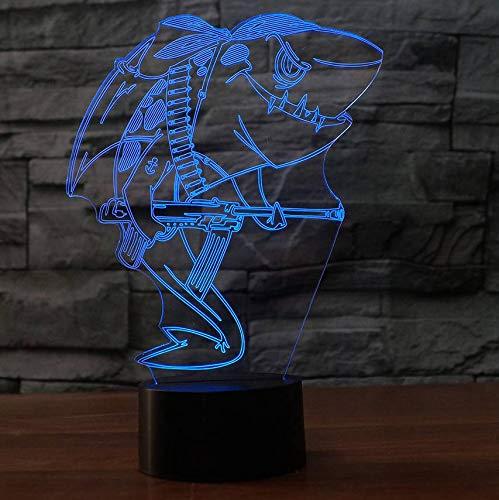 3D Led Usb Schlafzimmer Dekor Baby Schlaf Beleuchtung Nachtlichter Shark Pirat Modellierung Leuchte Kinder Geschenke Schreibtisch Tischlampe