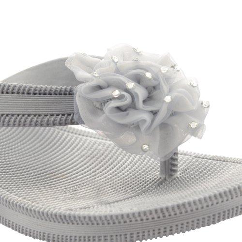 Footwear Sensation, Infradito donna Nero nero Nero (argento)