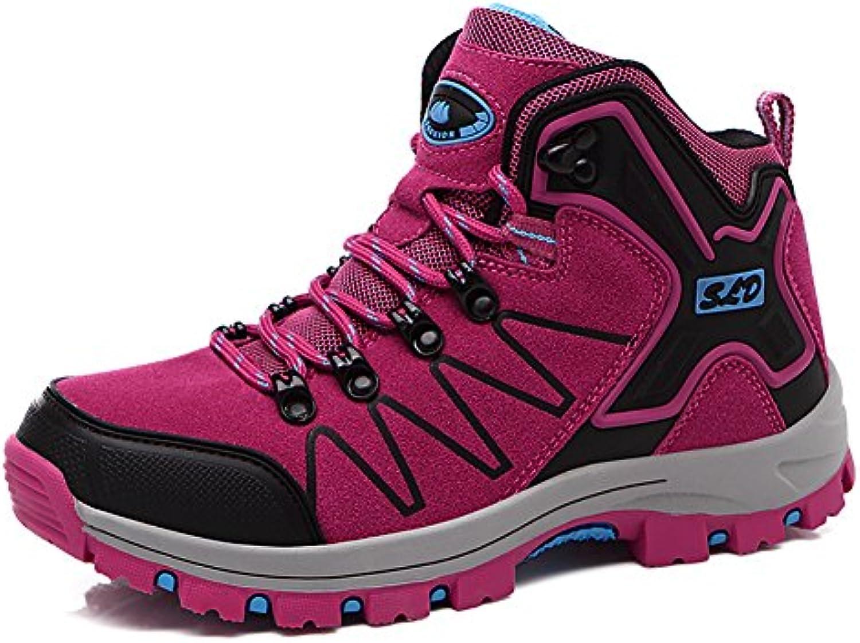 Gomnear Herren Wanderstiefel Trekking Schuhe Sport im Freien Non Slip Atmungsaktiv Wasserdicht Gehen Klettern
