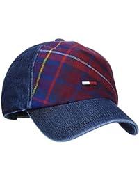 Hilfiger Denim Herren Baseball Fleece Check Denim Cap Blau (Denim&Check 903), One Size