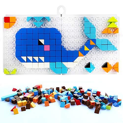 Nuheby Mosaico Bambini Mattoncini Costruzioni Gioco Puzzle Pegboard Giocattolo Regalo Ragazza Ragazzo 4,5,6 Anni ,248 Pezzi
