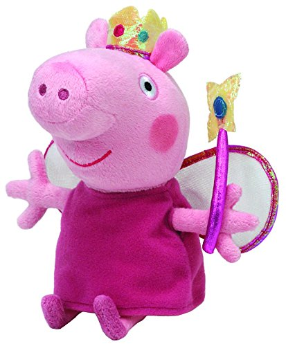 "Image of Peppa Pig Princess Peppa Beanie Baby, plush toys (Approximately 7"" tall)"