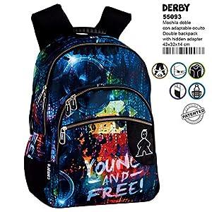 518Y41j9T8L. SS300  - Montichelvo Montichelvo Double Backpack A.O. CMP Derby Bolsa Escolar, 43 cm, Multicolor (Multicolour)