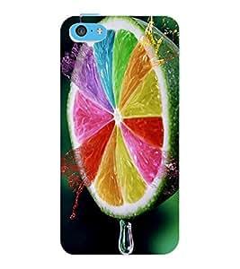 ColourCraft Creative Leamon Design Back Case Cover for APPLE IPHONE 5C