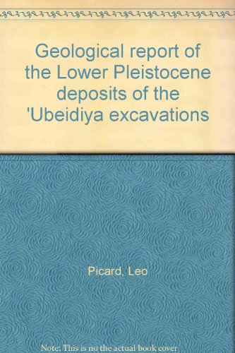Geological report of the Lower Pleistocene deposits of the 'Ubeidiya excavations