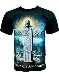 Rock Chang T-Shirt * Christ The Redeemer * Glow In The Dark * Noir GR543