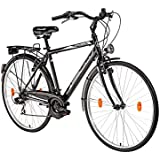 Hillside City Bird 28'' Herren Fahrrad City Bike Citybike Stadtrad 21 Gang Schaltung Shimano Tourney Gepäckträger Kettenschutz Ständer Beleuchtung Trekkingrad