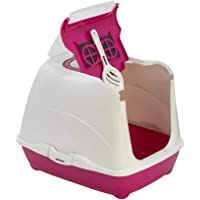Moderna Flip Cat Litter Tray Box for Cats and Kittens (50 cm, Hot Pink), 1 Count