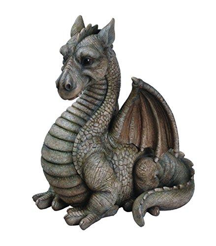 Vivid Arts BG DGGN-A grande drago alato resina ornamento - grigio