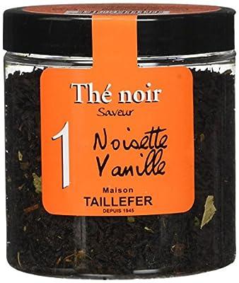 Maison Taillefer Thé Noir Noisette Vanille Pot 60 g - Lot de 4