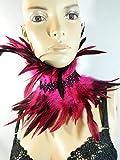 Feder Halsband Kragen pink Choker Kropfband Kette Vogel Kostüm Flamingo Karneval