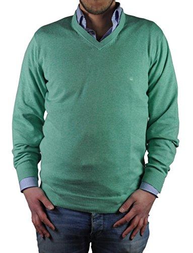 Redmond - Herren Pullover mit V-Ausschnitt in verschiedenen Farben (Art.Nr.: 600) Grün (610)