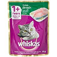 ‏‪Whiskas Tuna in Jelly, Pouch, Multipack, 85g x Pack of 12‬‏